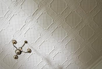 Decorative ceiling tiles are used in many formal rooms and entry foyers.