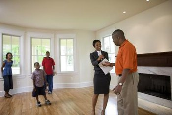 Real-estate agents help clients rent, sell and buy homes.