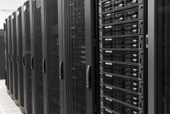 Racks of servers power large commercial websites.