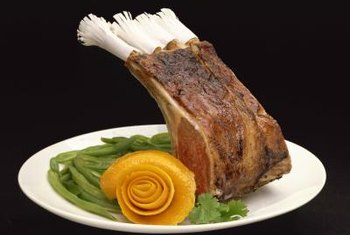 Many restaurants offer a rack of lamb entree on their dinner menus.