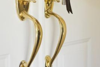 Keep door locks beautiful with regular cleaning and polishing.