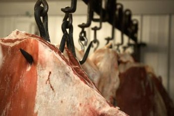With continuous meat input, slaughterhouse cleaners must disinfect regularly.