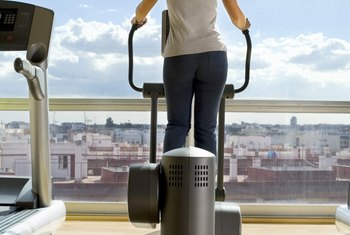 The elliptical trainer can work upper and lower body muscles simultaneously.