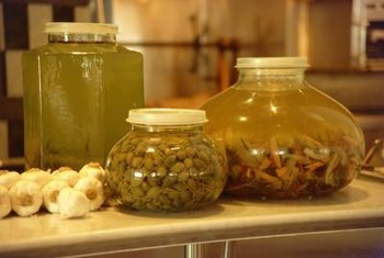 Decorate countertops with clear canisters filled with Mediterranean foods.