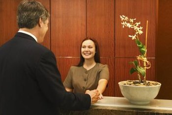 View your business reception area as an internal marketing venue