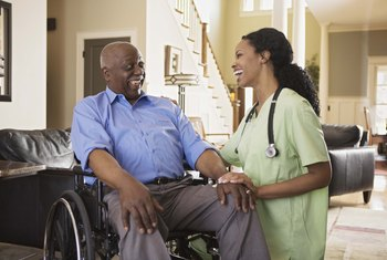 Licensed practical nurses often work in nursing care or extended-care facilities.