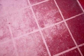 Grout is a concrete-based material that locks tiles in place.