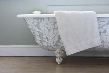 A pedestal tub is an ideal centerpiece for a Victorian-style bathroom.