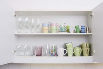 Repairing or repainting kitchen shelves keeps them looking fresh and clean.