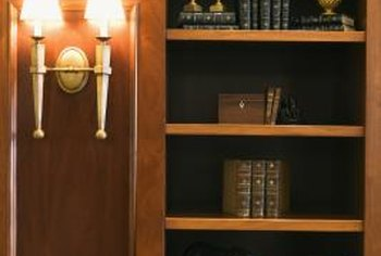 Install doors on almost any bookcase.