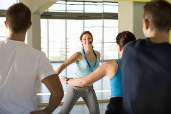 Aerobic dance terminology prompts movement in numerous directions during a single class.