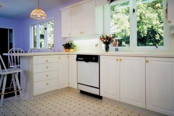 Countertops can come in numerous materials, including ceramic tile.
