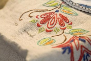 Print simple or complicated patterns on fabric before embroidering.
