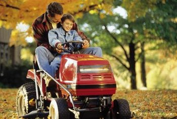 Storing a lawnmower indoors prevents excessive muffler rust.