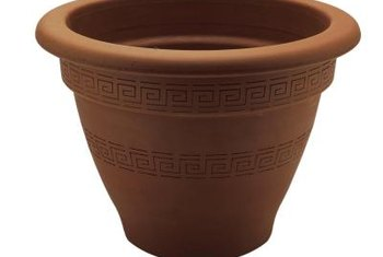 You can invert a plant pot to use as a birdbath base.