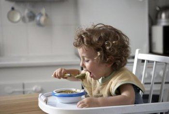 Feed children on a regular schedule throughout the day.