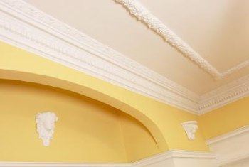 Molding adds a finishing touch to a room.
