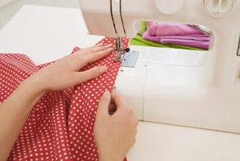 Sew easy hems and rod casings to make curtain tiers.