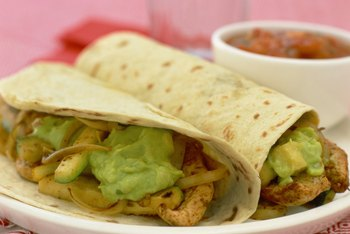 Low-calorie wraps aid in losing weight.