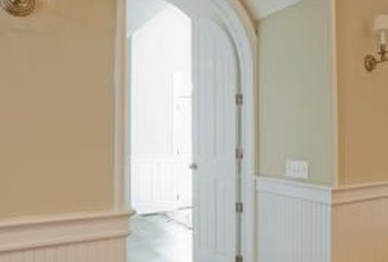 An indoor archway is always distinctive enough to draw attention to itself.