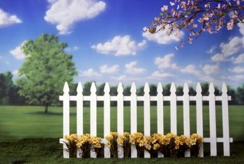 Picket fence panels install quickly to define an area.