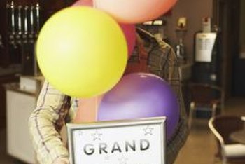 Grand opening decorations attract attention and create a festive atmosphere.
