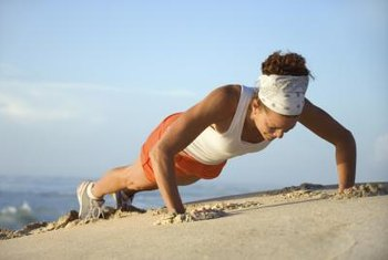 A pushup is a bodyweight exercise that works several key muscle groups.