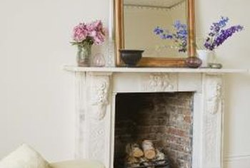 Painting a fireplace gives it a fresh, modern look.