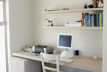 Install a pegboard on the underside of the desk to keep wires hidden.