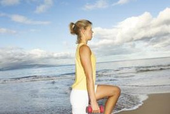 Lunges can add definition to your legs.