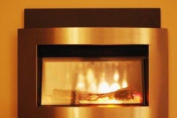 Wall fireplaces conserve space and create affordable heat.