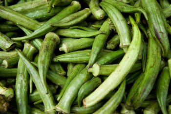 Insects may destroy your okra if you don't control them.