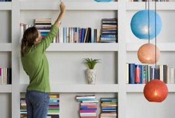 Regular dusting of shelf items and shelves will cut down on dust in the home.