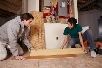 Snap-together laminate flooring removal is as easy as the installation.