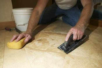 Grouting any type of tile is fairly easy.