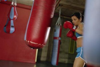 The heavy bag is an integral part of a boxer's upper-body workout.