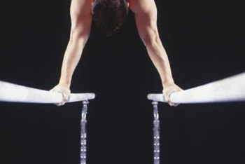 Parallel bars build upper-body strength and balance.