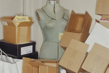 Organize boxes out of customer sight to make your booth more attractive.