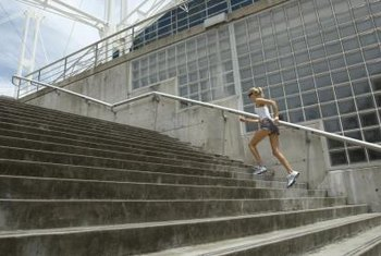 Your legs are the powerhouse when running up the stairs.