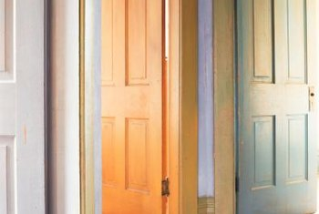 A hallway door provides privacy and noise control.