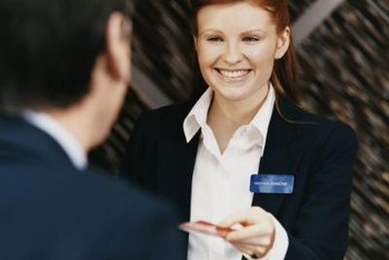 An amiable attitude is critical to front desk clerk success.