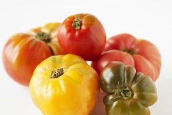 Heirloom tomato seeds can be saved and replanted.