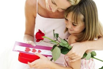 Mother's Day writing activities for kindergarten students might involve creating gifts.