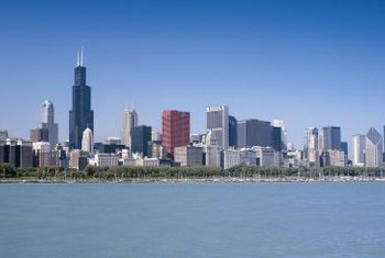 Chicago's Lake Michigan shoreline is primarily used as parkland.