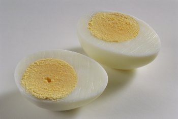 Get protein and healthy fats from boiled eggs.