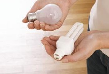 Show your students that there are different types of light bulbs.