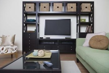 Wall units can be attractive, space-saving additions to a room.