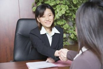 Be professional, yet personable, during your job interview.
