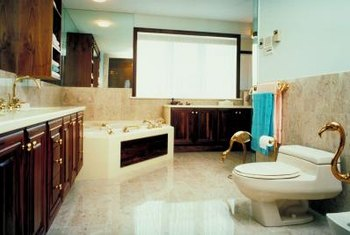 A larger bathroom can handle dark brown colors better than a small one.