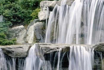 The combination of rock and water create a natural tranquility.